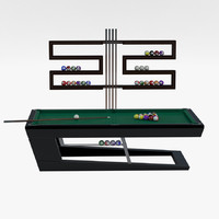 3d model modern pool table