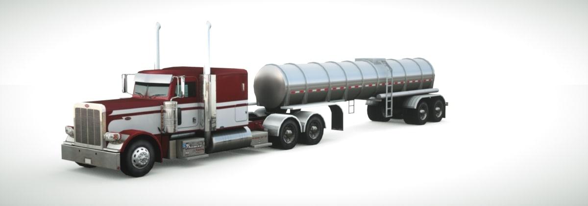 3d model 389 2013 tanker