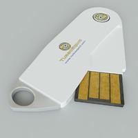 3d model memorystick 1