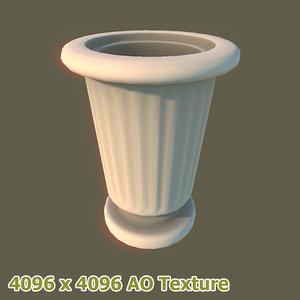 3d stoneware bin model