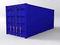 3d shipping container 20 foot