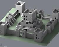 3d generic castle model