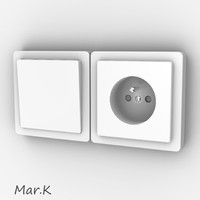 3d power socket model