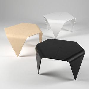 free trienna table 3d model
