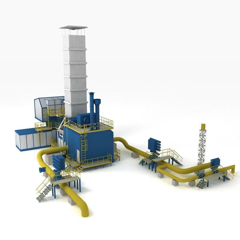 distribution station 3d model
