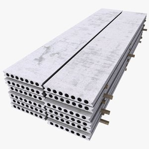 3d model of concrete plates