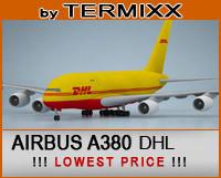 3d airplane airbus a380 dhl