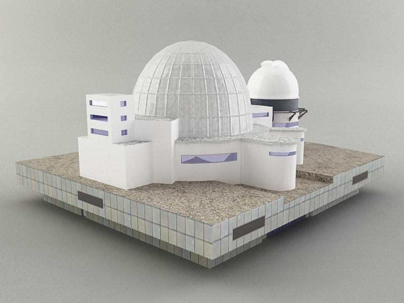planetarium observatory building 3d 3ds
