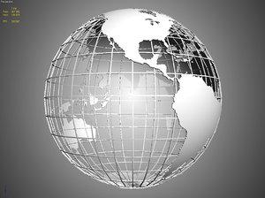 polygonal globe 3d model