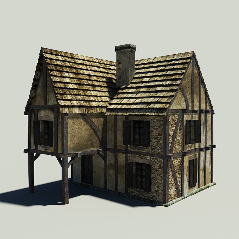 Free medieval house 3d model for Houses models