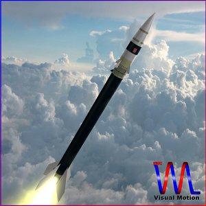 sounding rocket black brant 3d dxf