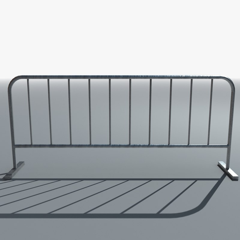 3d temporary metal barrier