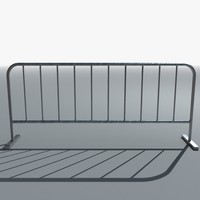 3d temporary metal barrier