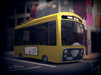 Cartoon City Bus