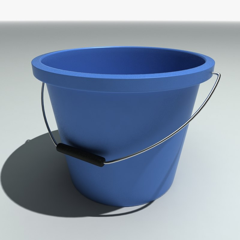 free max mode blue plastic bucket