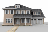 3ds max two-story home house
