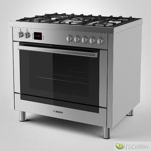3d max bosch gas range cooker