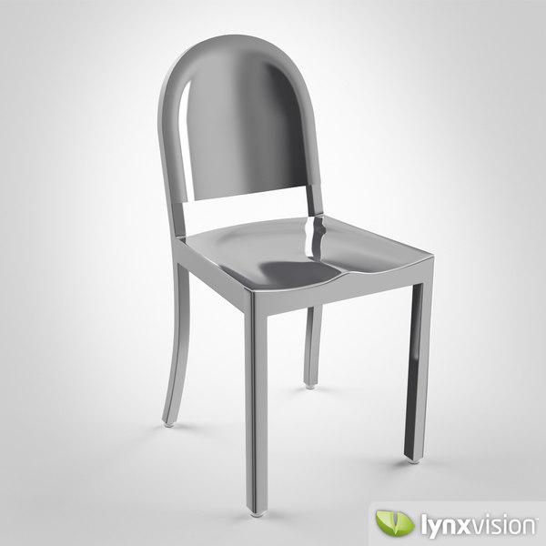 3d model morgans chair emeco