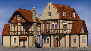 maya half timbered house wall