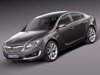 2013 2014 sedan opel 3d model