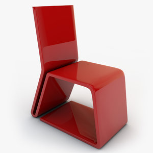 plastic chair 02 obj