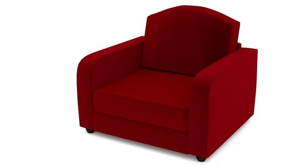 red velvet chair 3ds