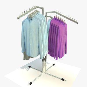 3d model mens shirt rack