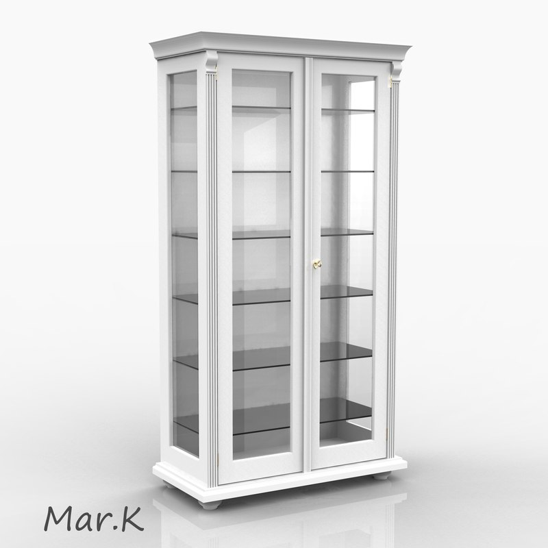 glass cupboard 3ds