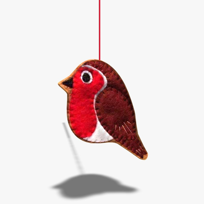 3d handcrafted bird mobile model