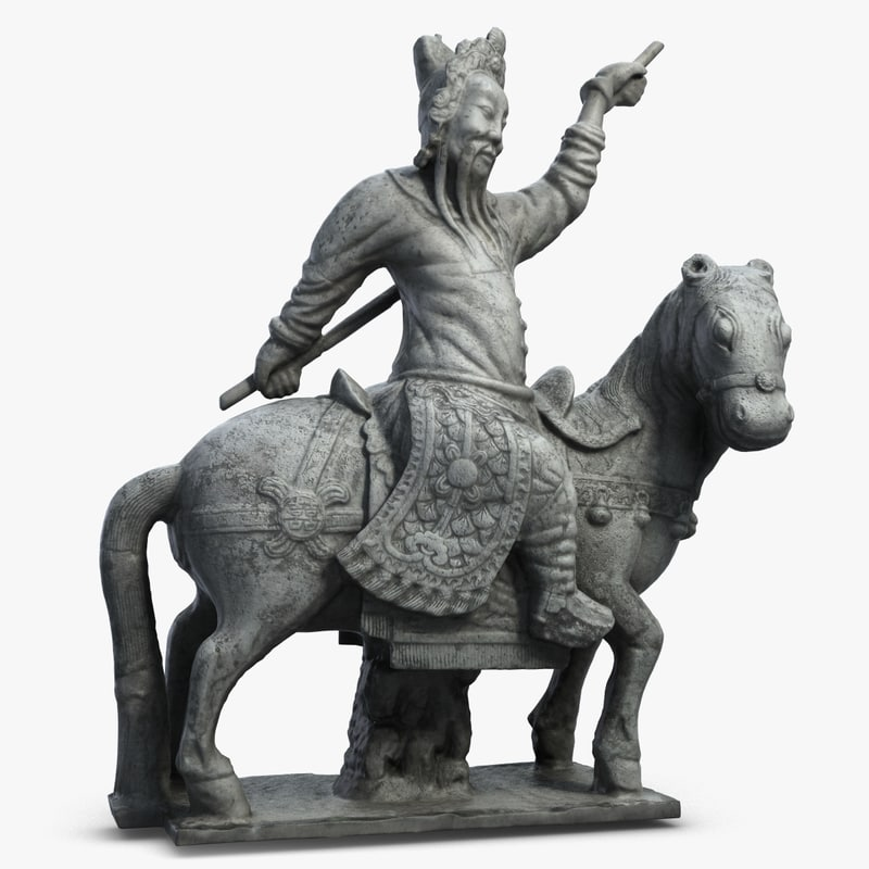 3d model guardian horse sculpture 1