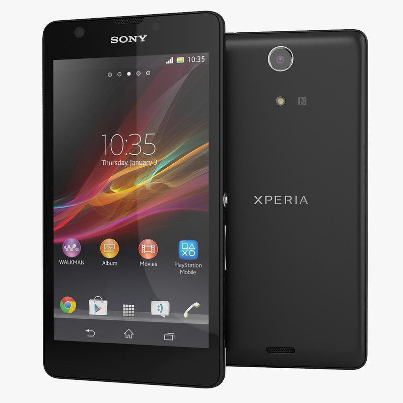 xperia zr smartphone sony 3d model