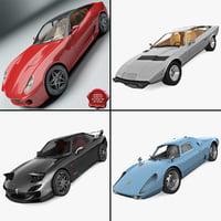 sport cars 2 3d model