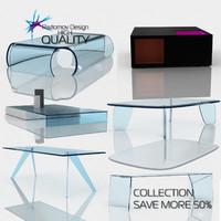 3d model modern tables glas italia