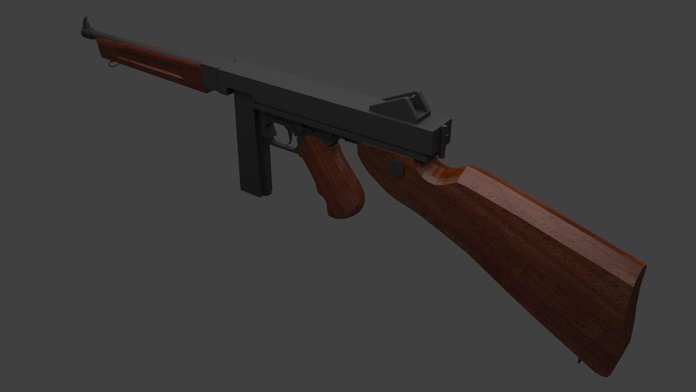 thomson gun 3d model