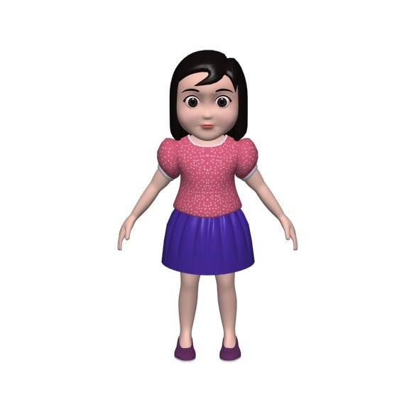 small girl 3d model
