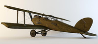 3d max airplane ww1 plane