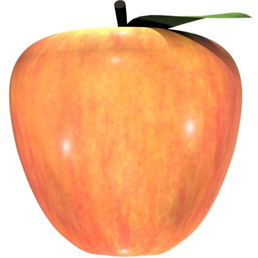 3d model apple fruit loader