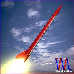 sounding rocket black brant 3d model