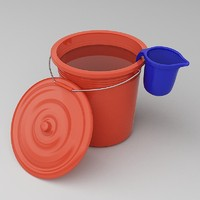 plastic bucket lid mug 3d model
