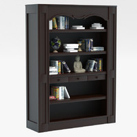 3d elegant bookcase model