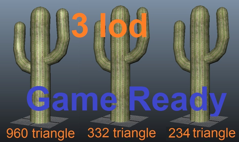 3d cactus ready