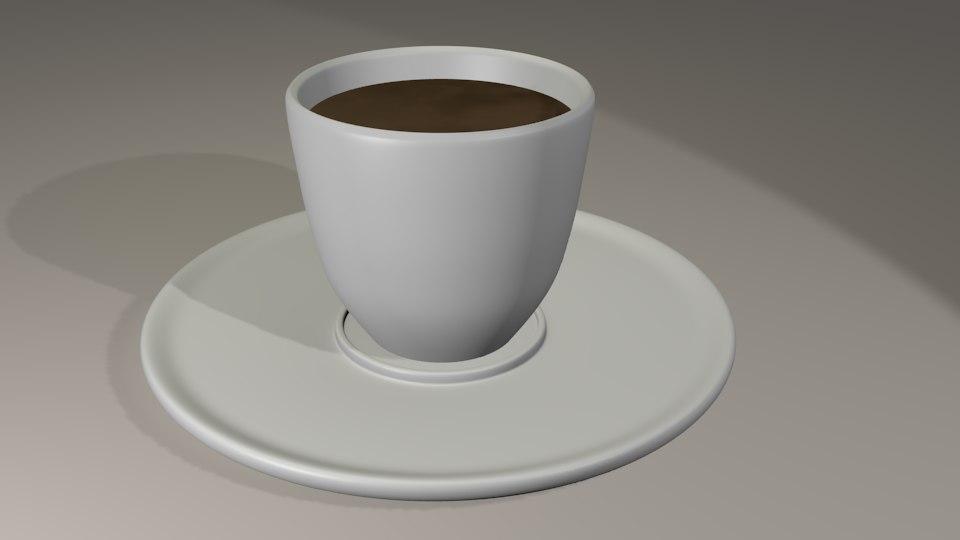 espresso cup 3d blend