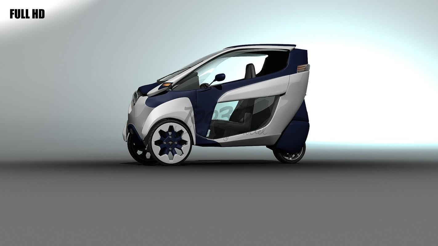toyota iroad vehicle 3d model