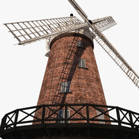 windmill green s 3d model