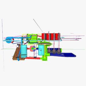 3d model microbial mec ic motor