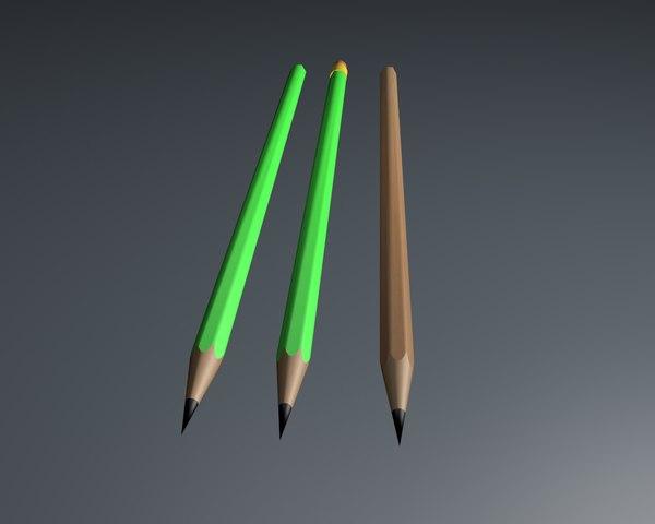 3d model pen pencil