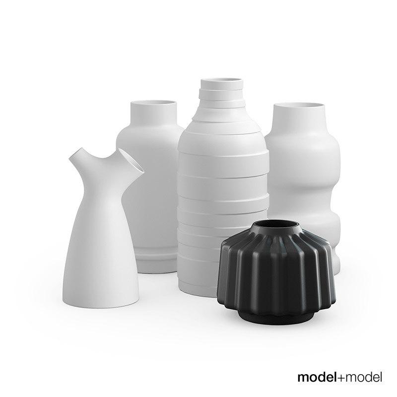 3ds max set vases