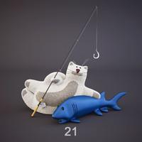 fish cat toys max