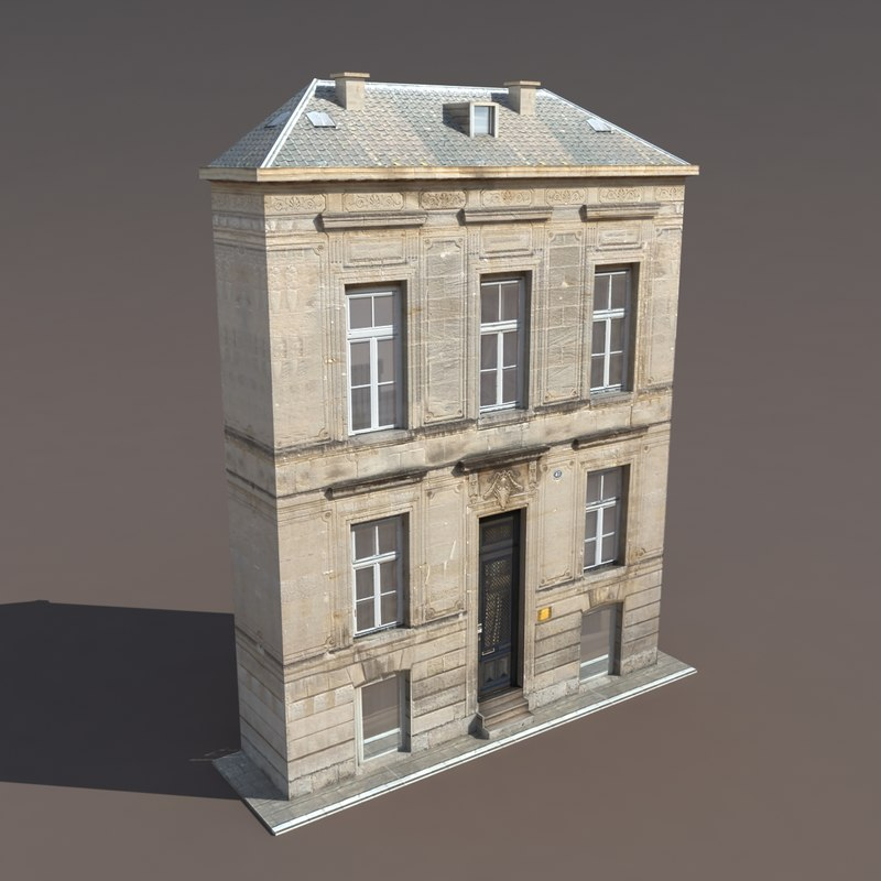 3ds building exterior modelled