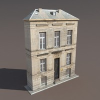 Apartment House #119 Low Poly 3d Model